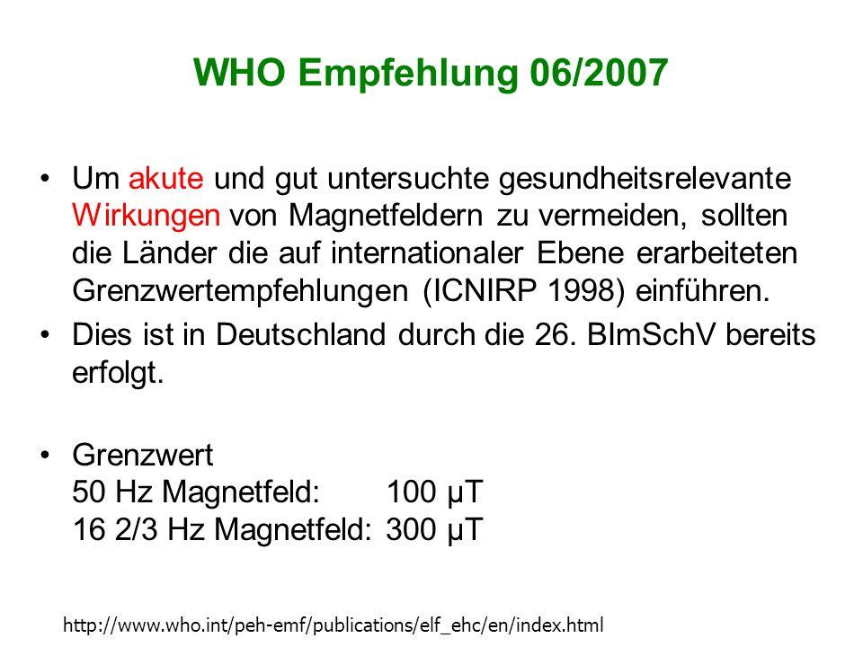 WHO Empfehlung 06/2007