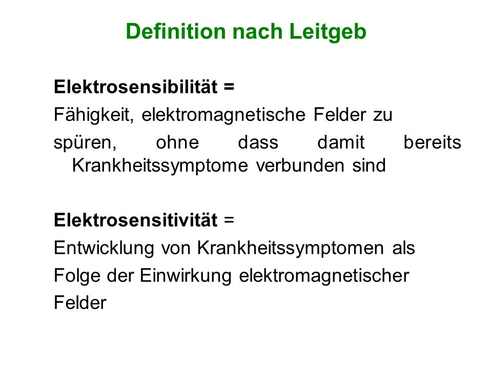 Definition nach Leitgeb