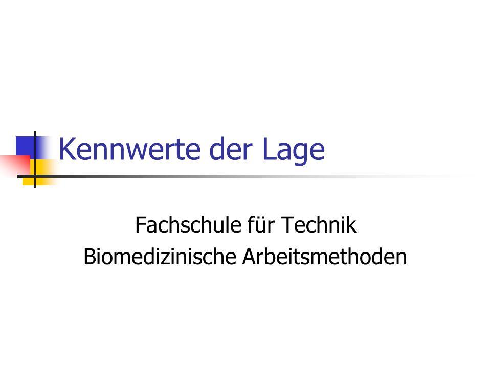 Fachschule für Technik Biomedizinische Arbeitsmethoden