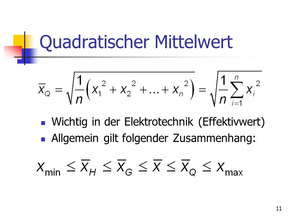 Quadratischer Mittelwert