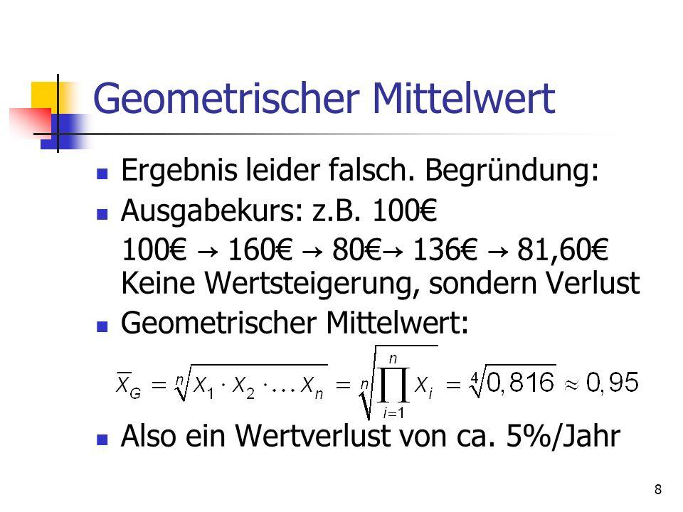Geometrischer Mittelwert