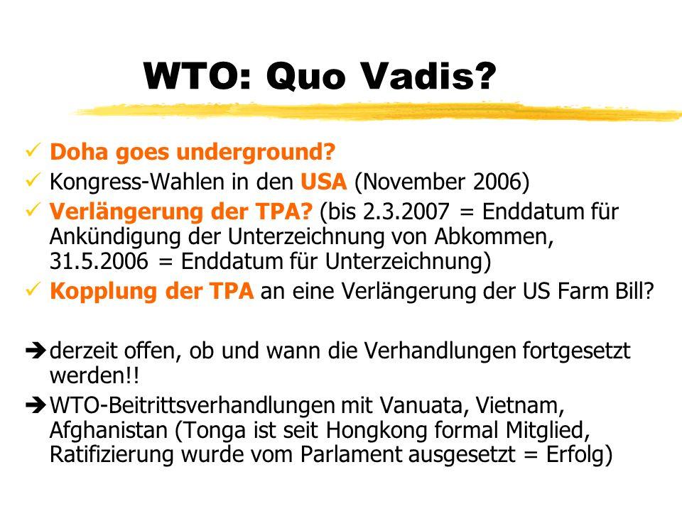 WTO: Quo Vadis Doha goes underground