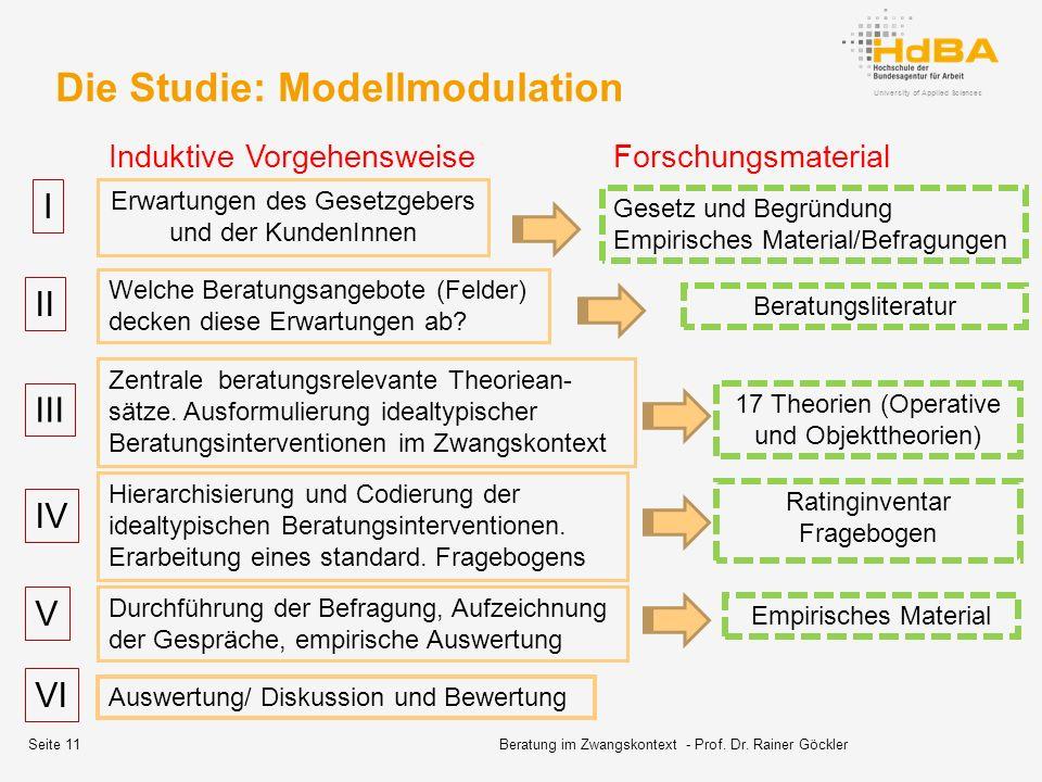 Die Studie: Modellmodulation