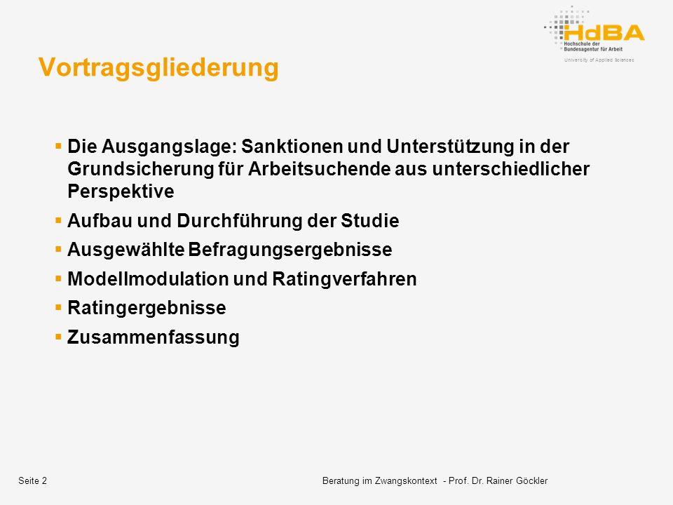 Beratung im Zwangskontext - Prof. Dr. Rainer Göckler