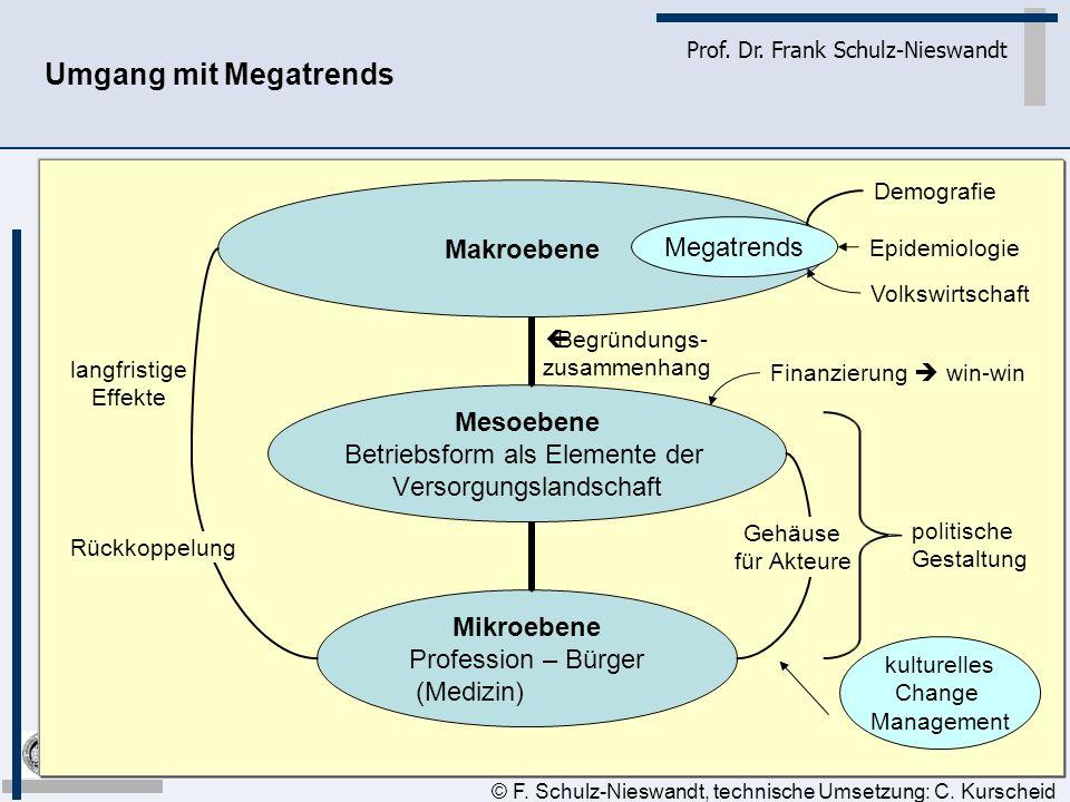 Umgang mit Megatrends Epidemiologie Volkswirtschaft