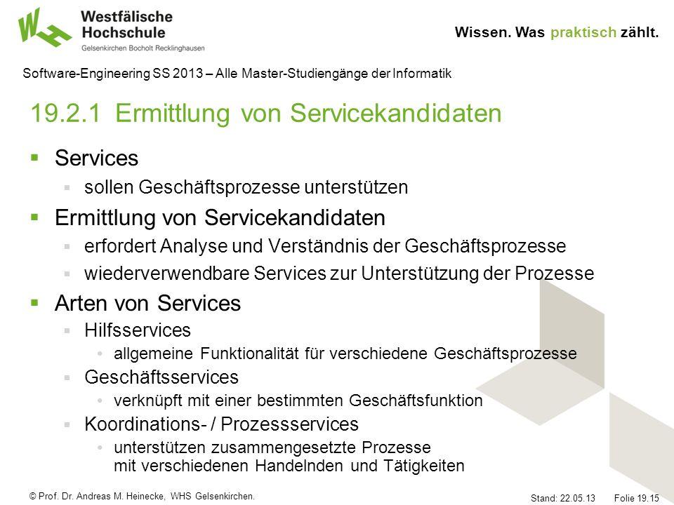 19.2.1 Ermittlung von Servicekandidaten