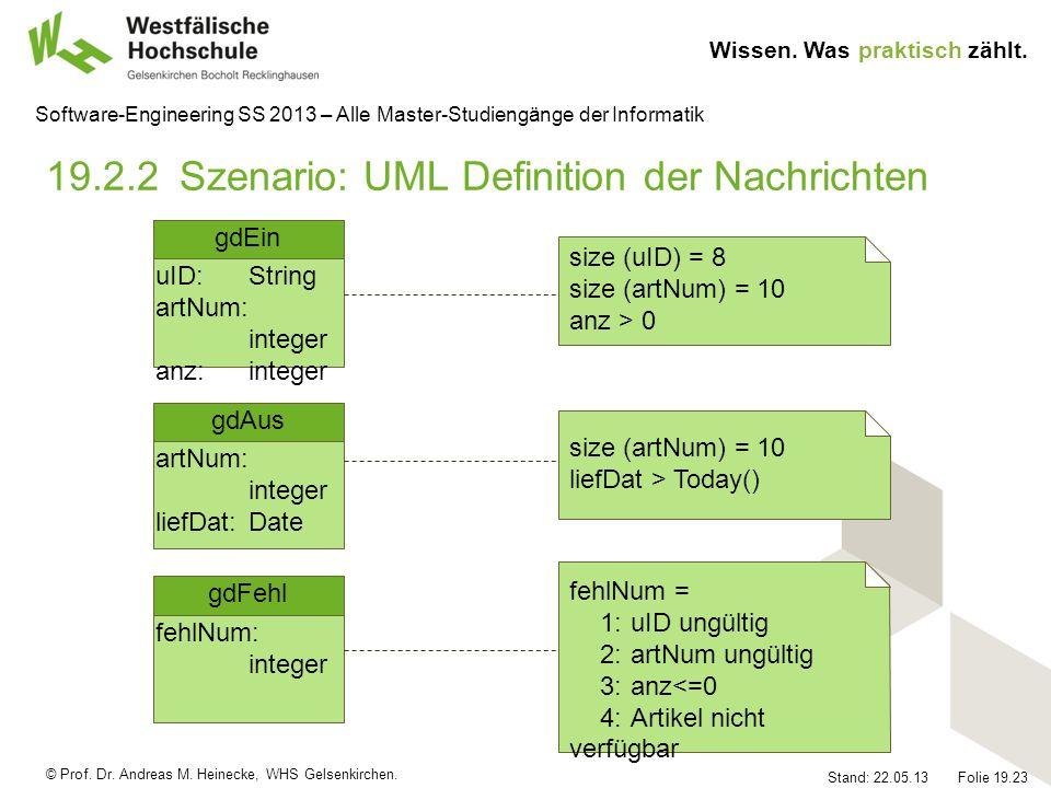 19.2.2 Szenario: UML Definition der Nachrichten