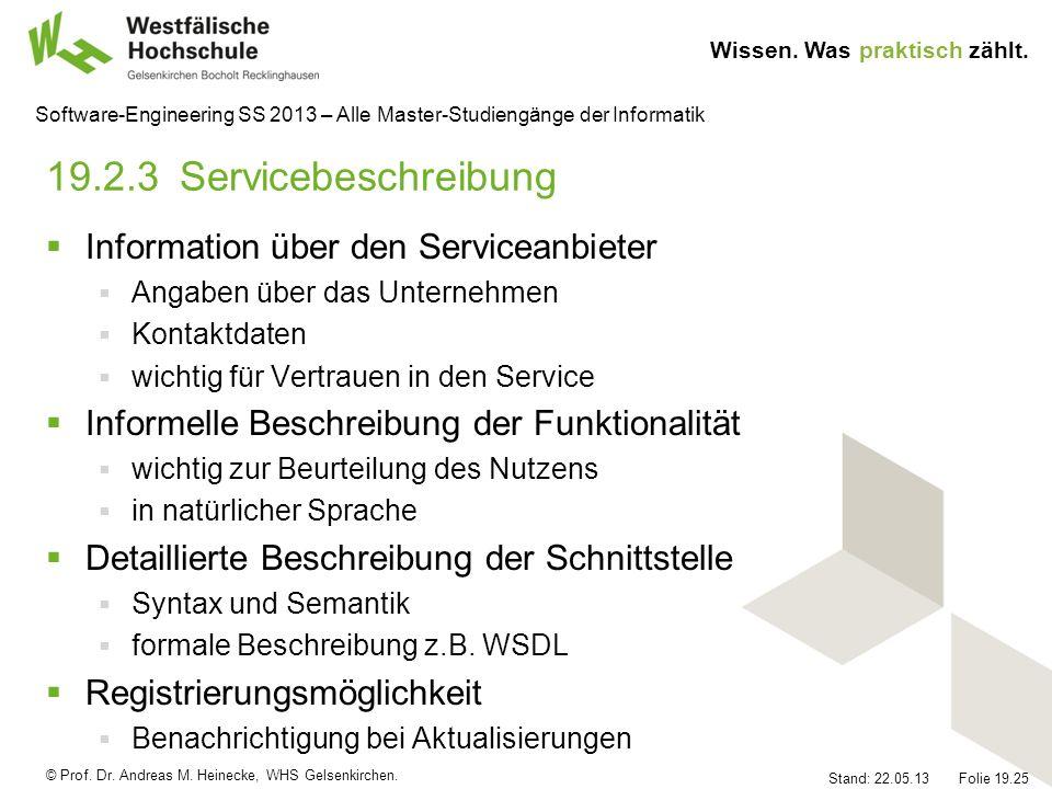 19.2.3 Servicebeschreibung Information über den Serviceanbieter