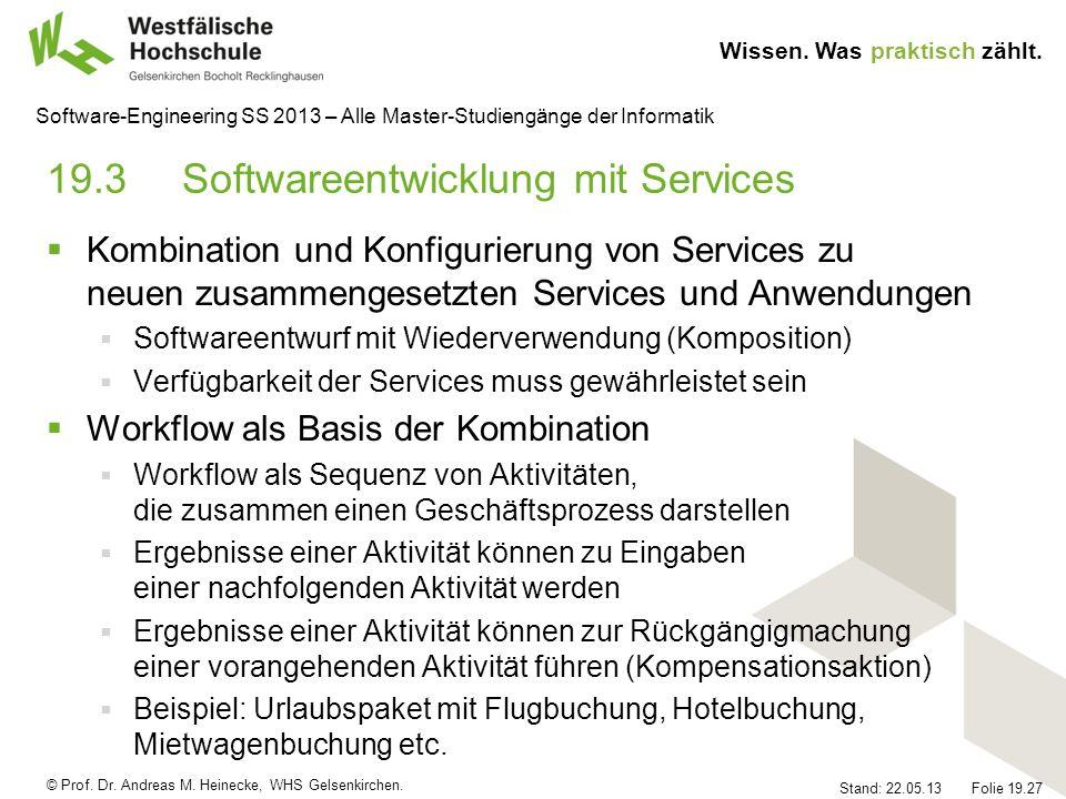 19.3 Softwareentwicklung mit Services
