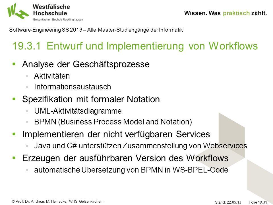 19.3.1 Entwurf und Implementierung von Workflows