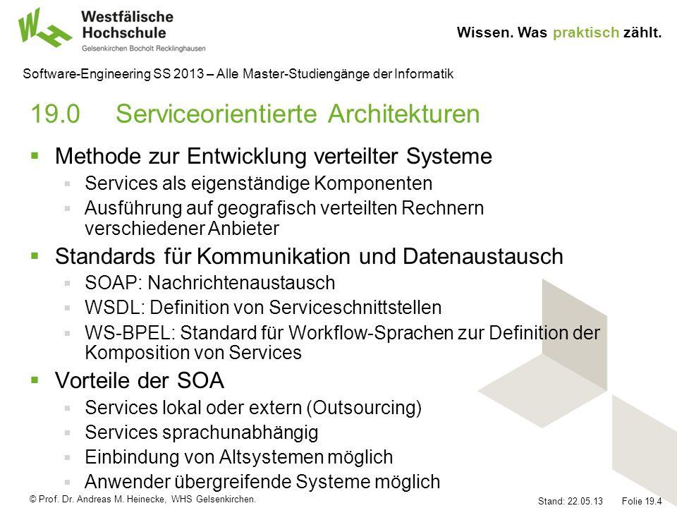 19.0 Serviceorientierte Architekturen