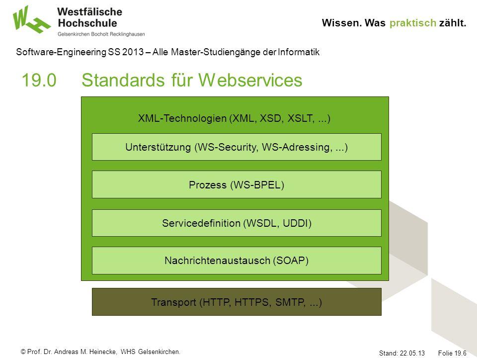 19.0 Standards für Webservices