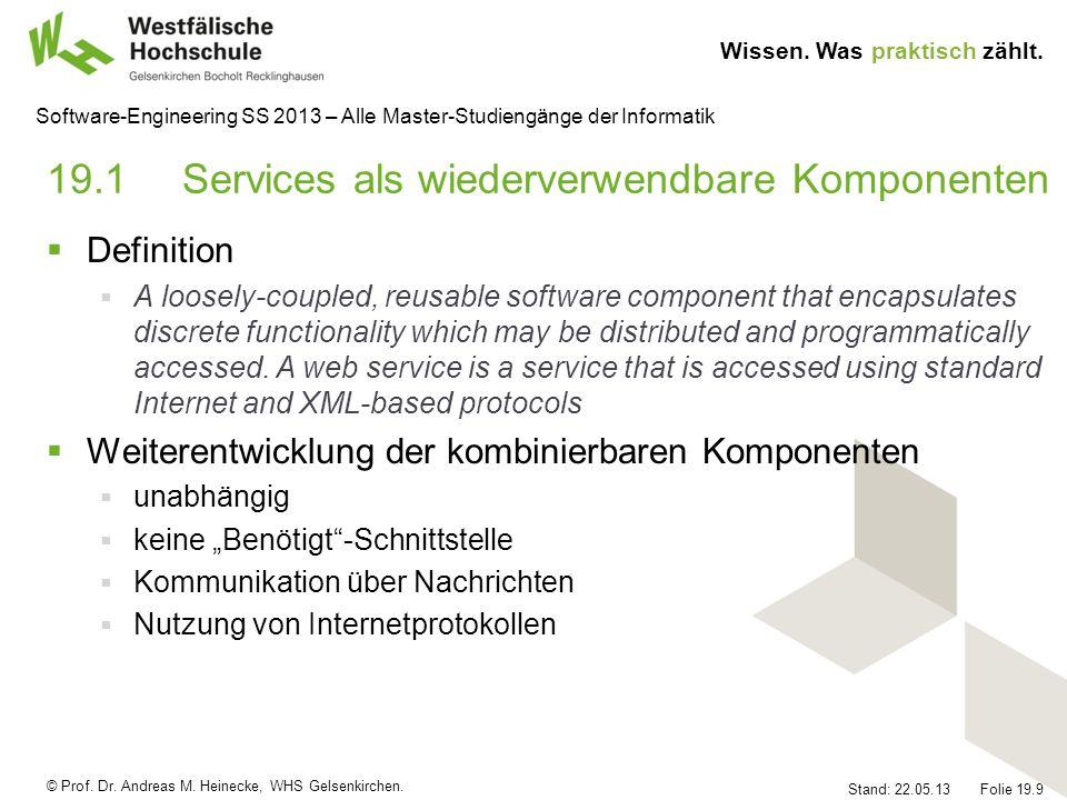 19.1 Services als wiederverwendbare Komponenten