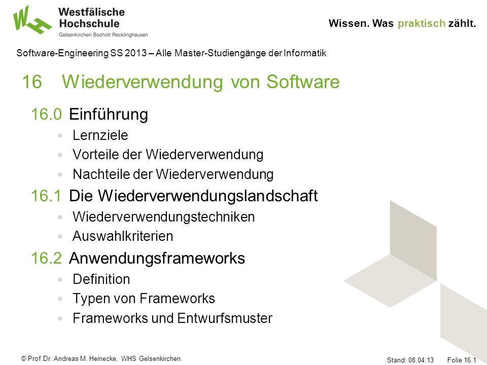 16 Wiederverwendung von Software