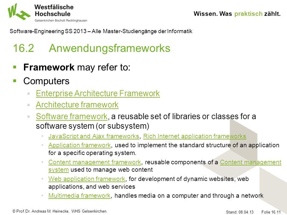 16.2 Anwendungsframeworks