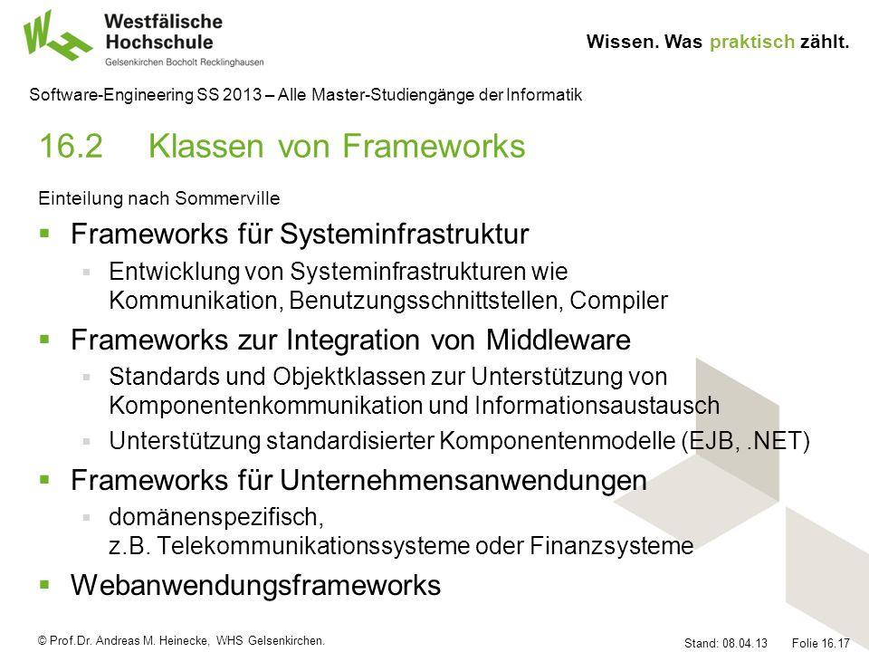 16.2 Klassen von Frameworks