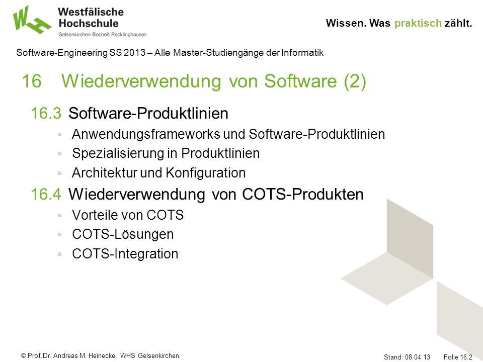 16 Wiederverwendung von Software (2)