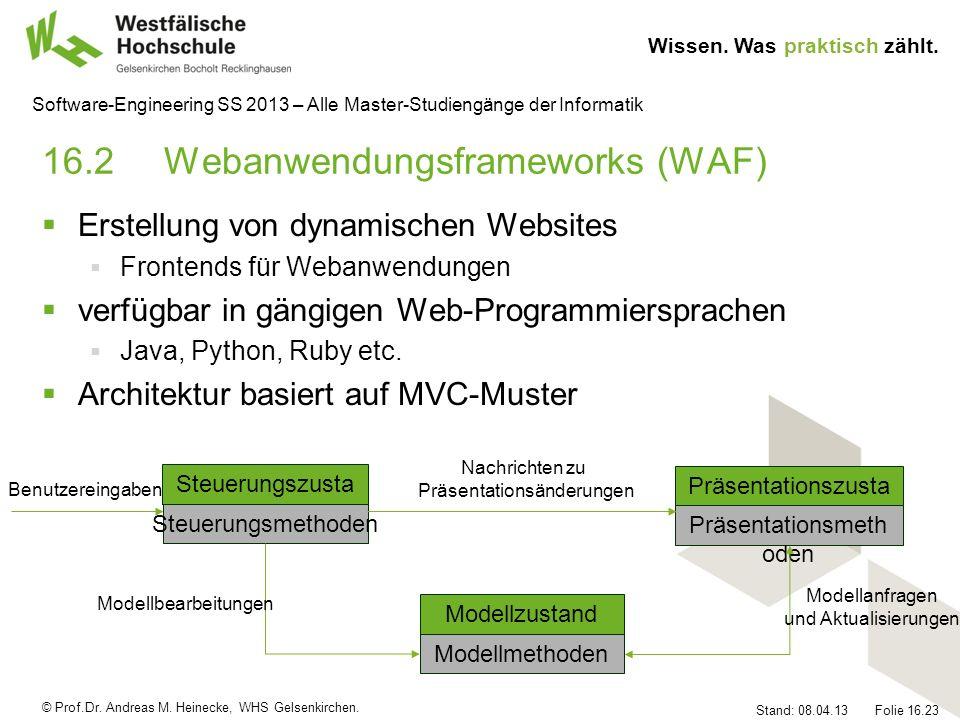 16.2 Webanwendungsframeworks (WAF)