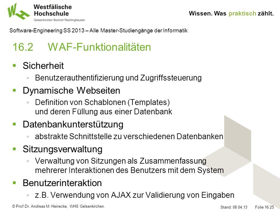 16.2 WAF-Funktionalitäten