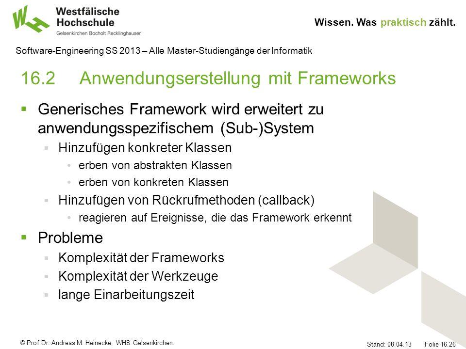 16.2 Anwendungserstellung mit Frameworks