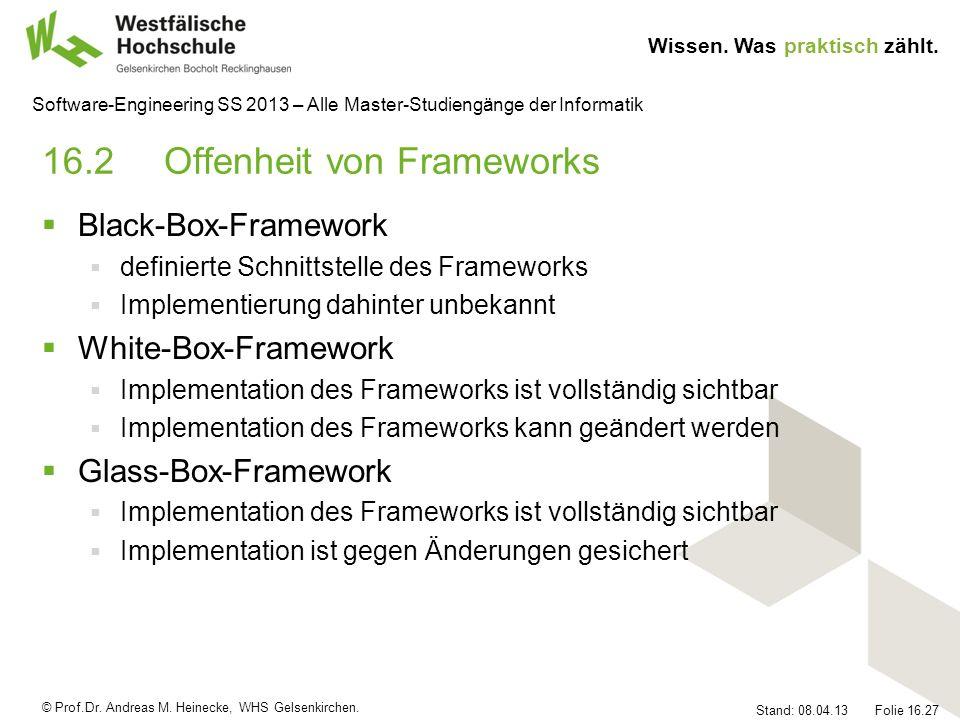 16.2 Offenheit von Frameworks