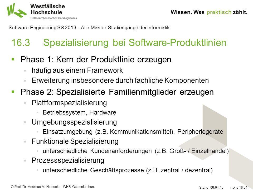 16.3 Spezialisierung bei Software-Produktlinien