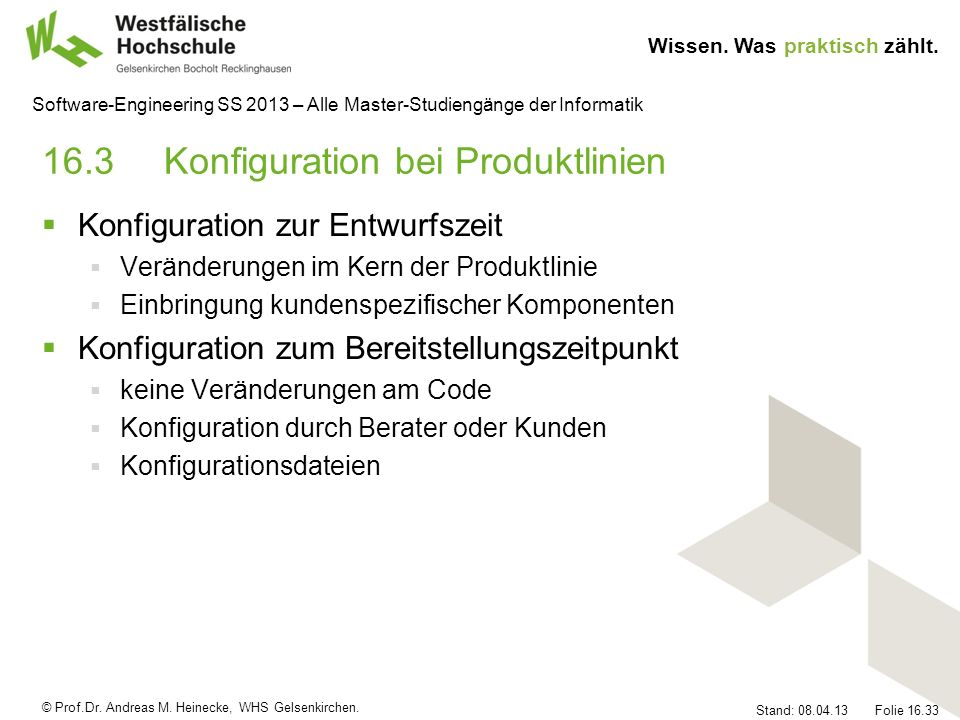 16.3 Konfiguration bei Produktlinien