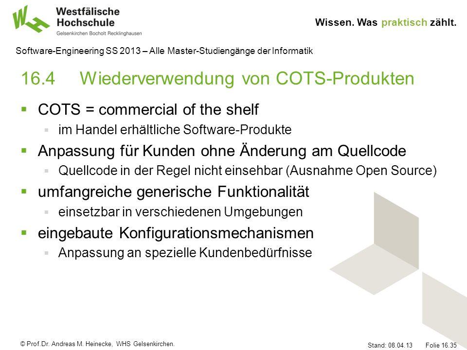 16.4 Wiederverwendung von COTS-Produkten
