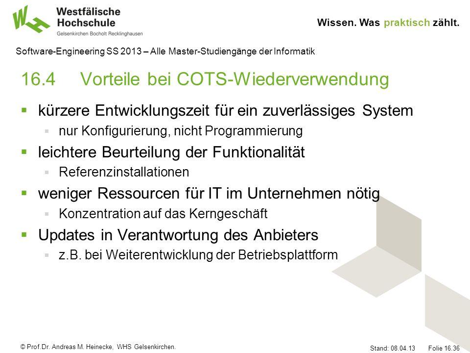 16.4 Vorteile bei COTS-Wiederverwendung