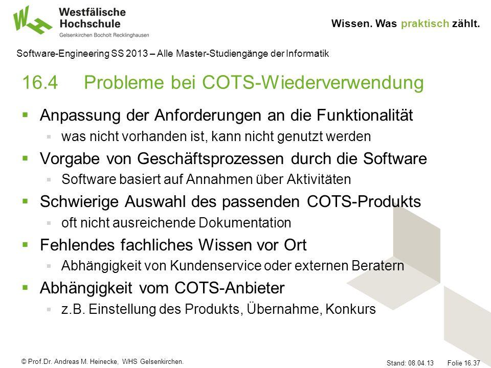 16.4 Probleme bei COTS-Wiederverwendung