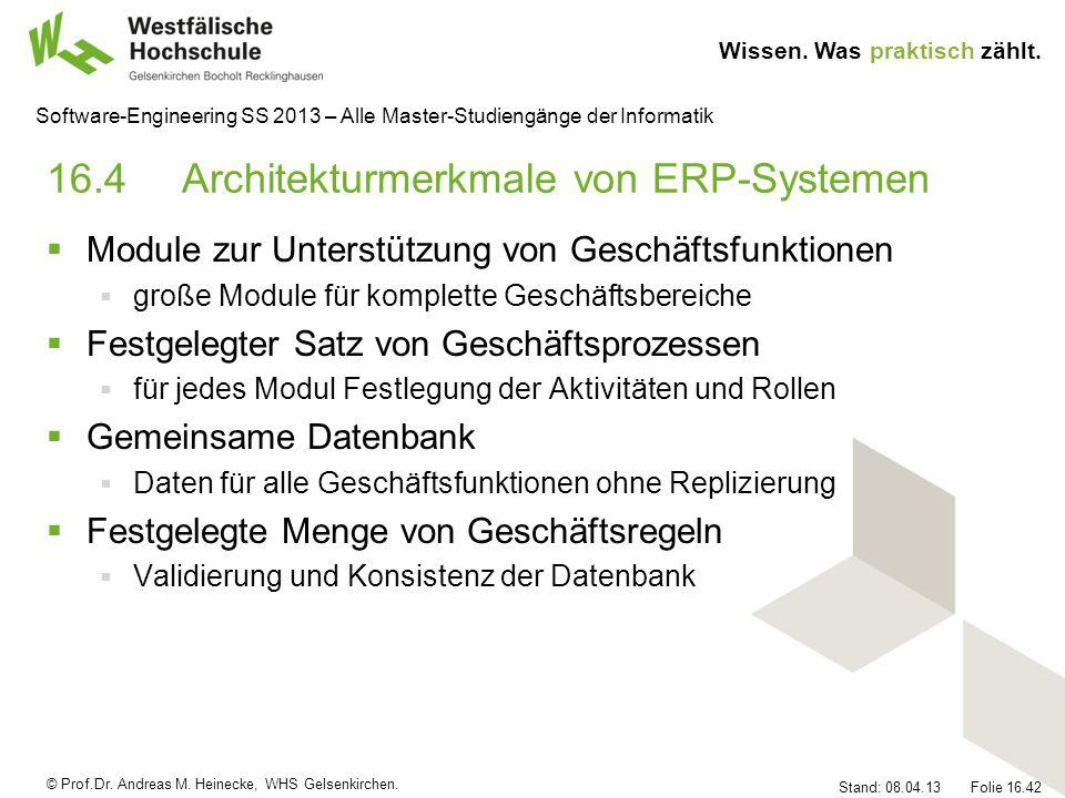 16.4 Architekturmerkmale von ERP-Systemen