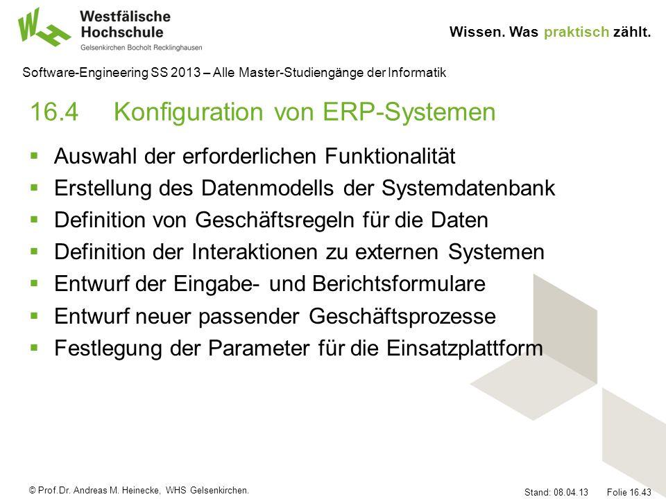 16.4 Konfiguration von ERP-Systemen