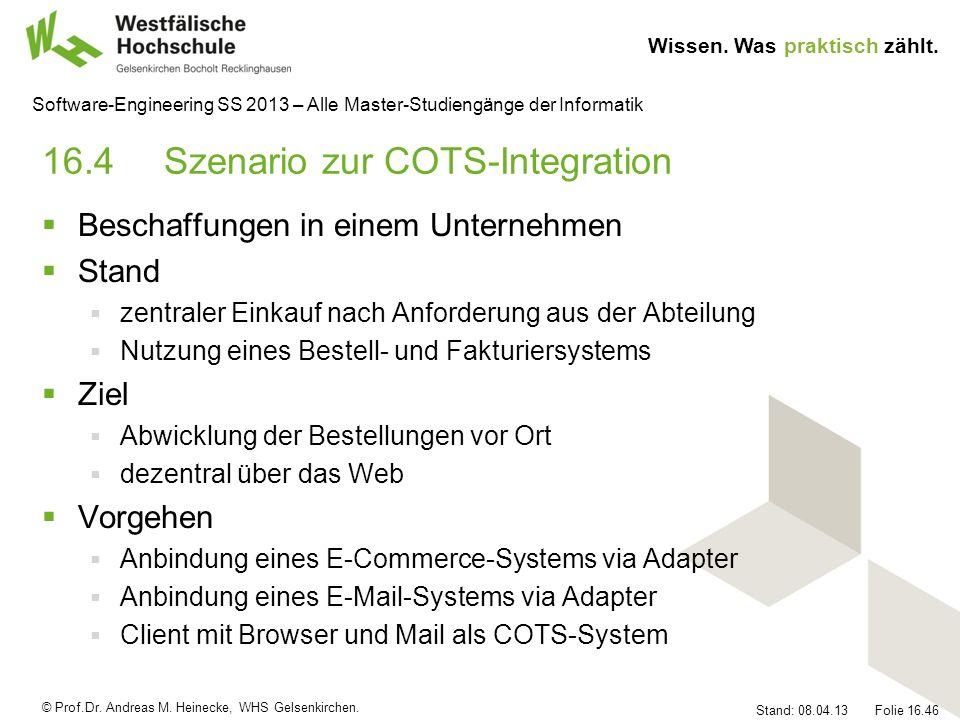 16.4 Szenario zur COTS-Integration