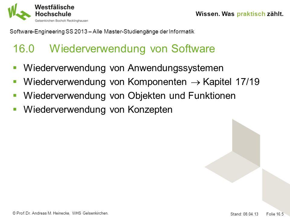 16.0 Wiederverwendung von Software
