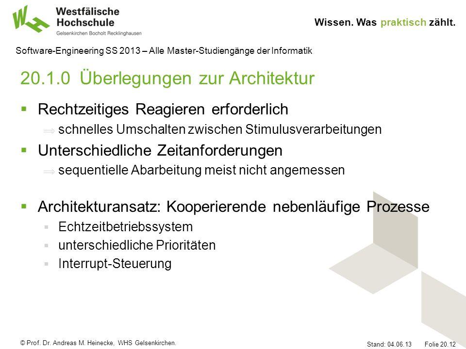 20.1.0 Überlegungen zur Architektur