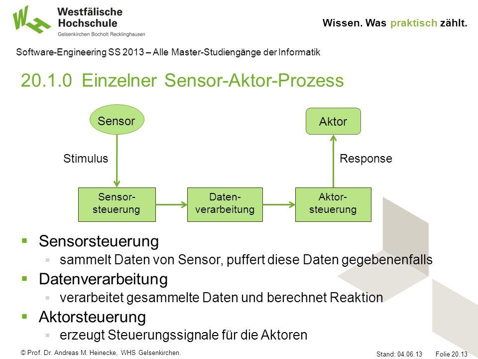 20.1.0 Einzelner Sensor-Aktor-Prozess