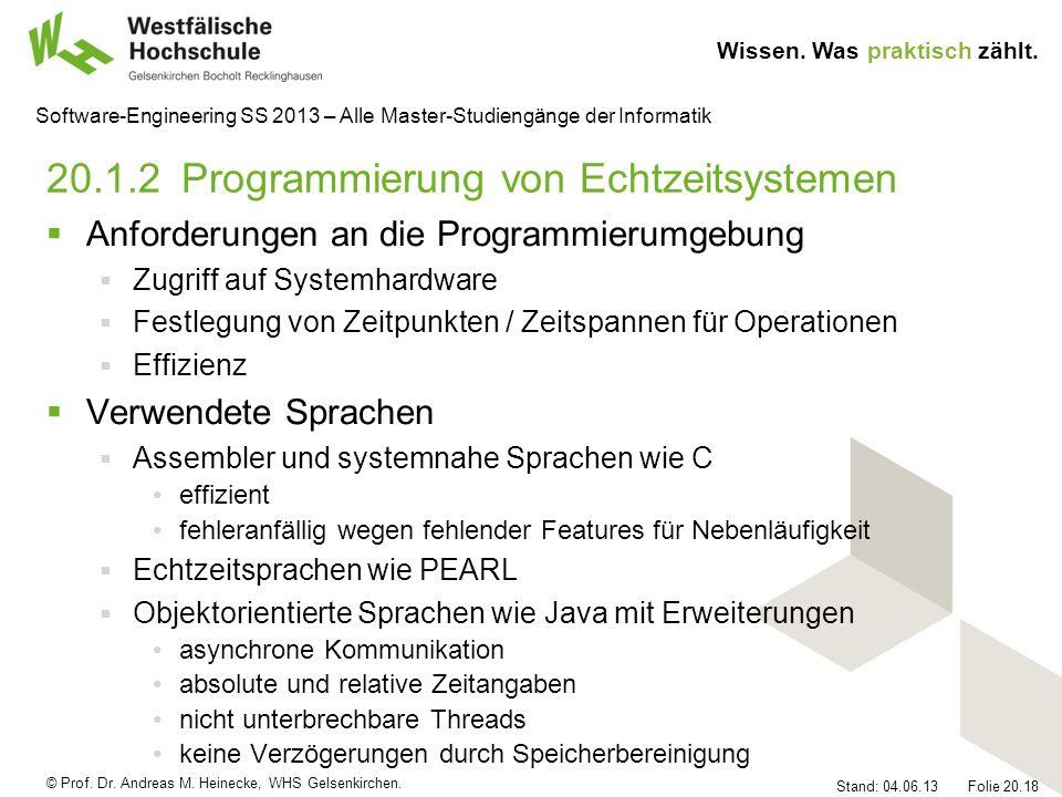 20.1.2 Programmierung von Echtzeitsystemen