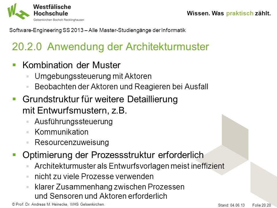 20.2.0 Anwendung der Architekturmuster