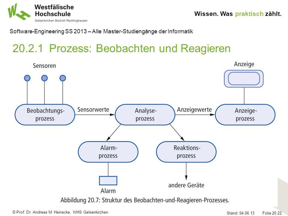 20.2.1 Prozess: Beobachten und Reagieren