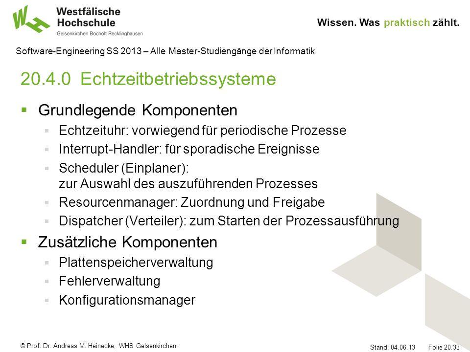 20.4.0 Echtzeitbetriebssysteme