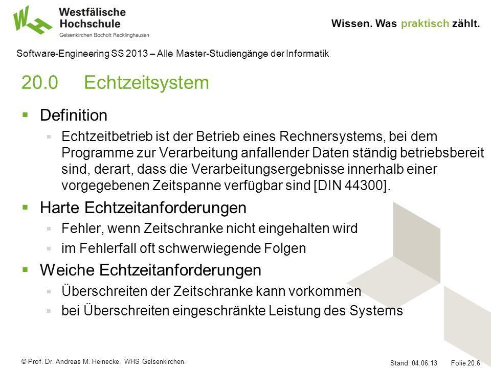 20.0 Echtzeitsystem Definition Harte Echtzeitanforderungen