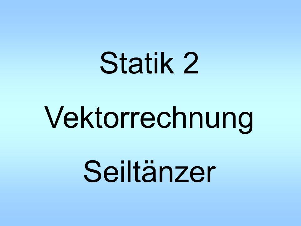 Statik 2 Vektorrechnung Seiltänzer