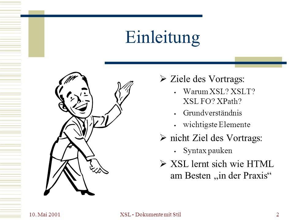 XSL - Dokumente mit Stil