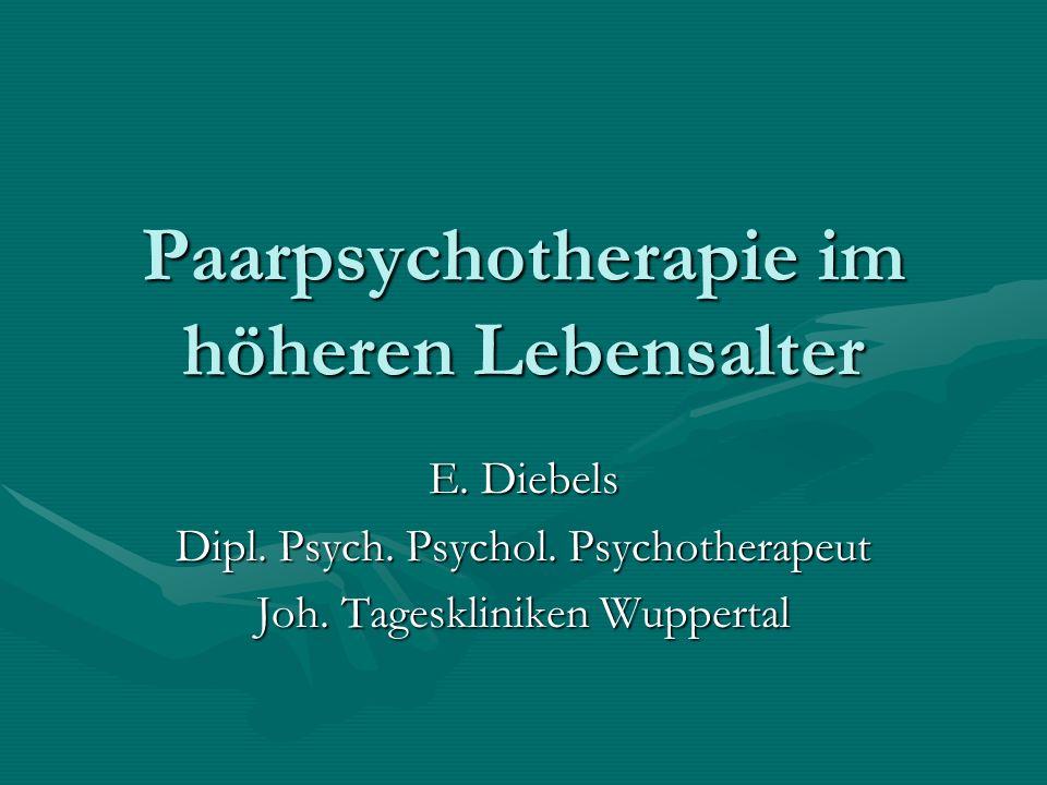 Paarpsychotherapie im höheren Lebensalter