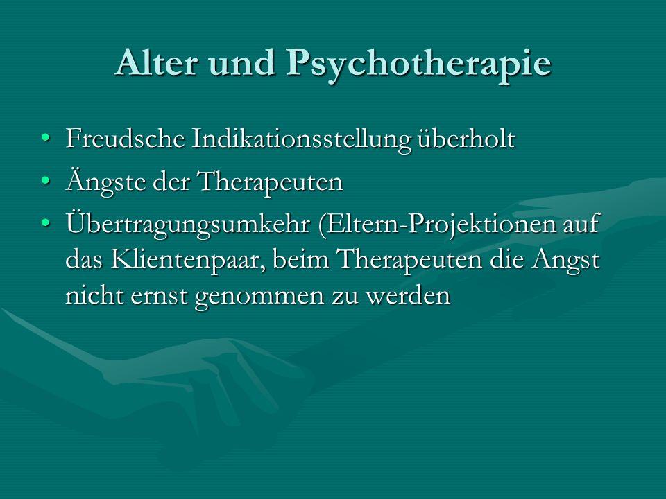Alter und Psychotherapie