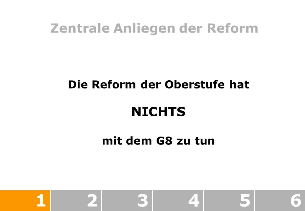 Zentrale Anliegen der Reform