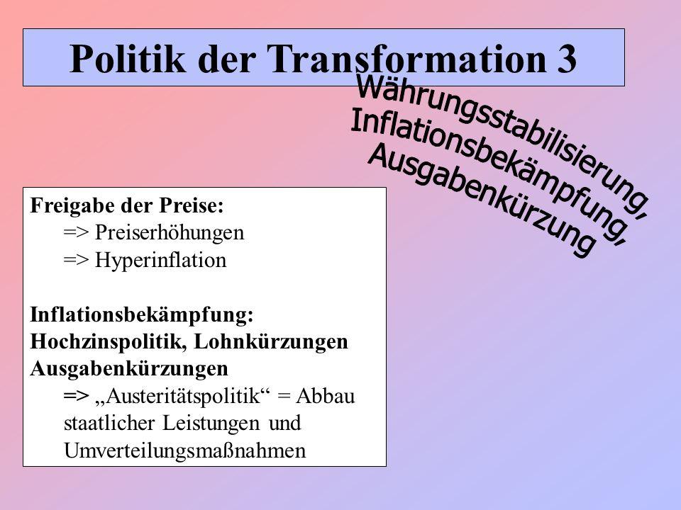 Politik der Transformation 3
