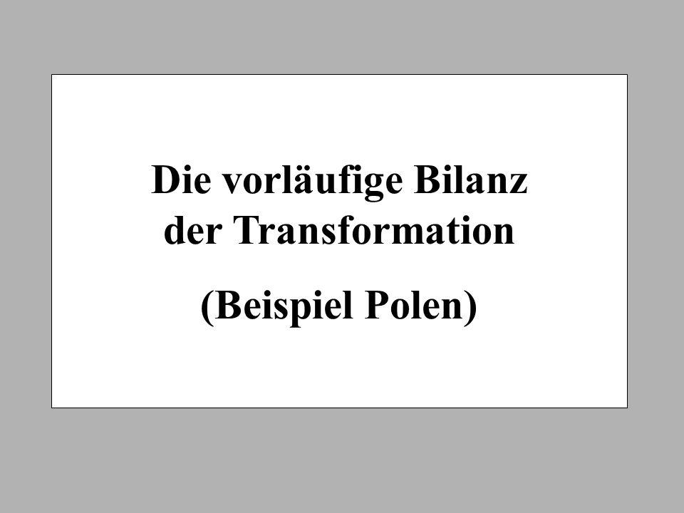 Die vorläufige Bilanz der Transformation
