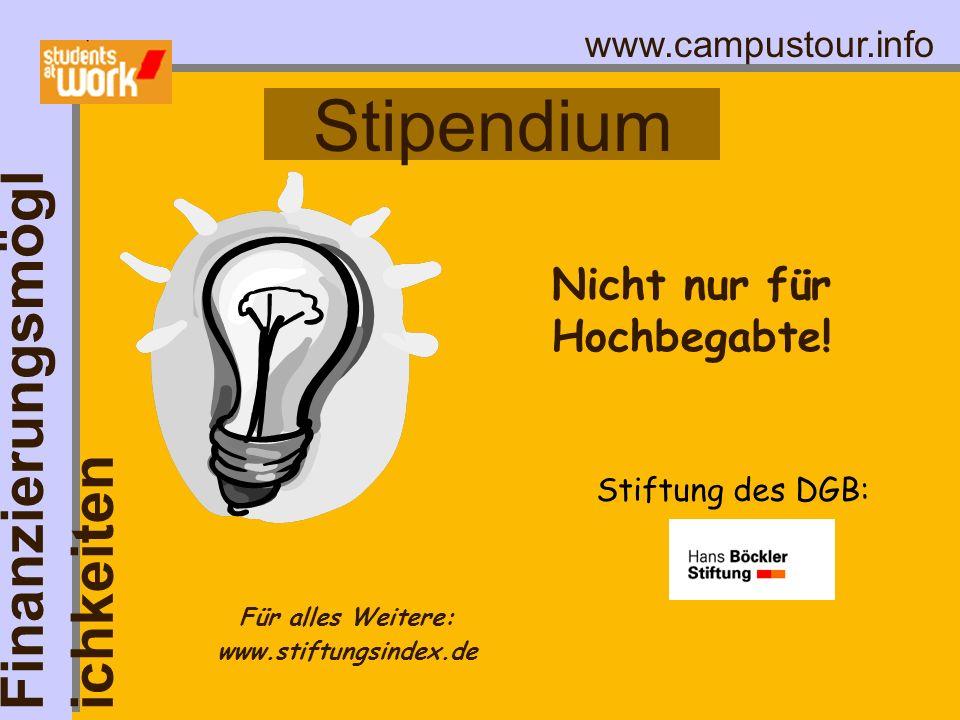 Nicht nur für Hochbegabte! Für alles Weitere: www.stiftungsindex.de