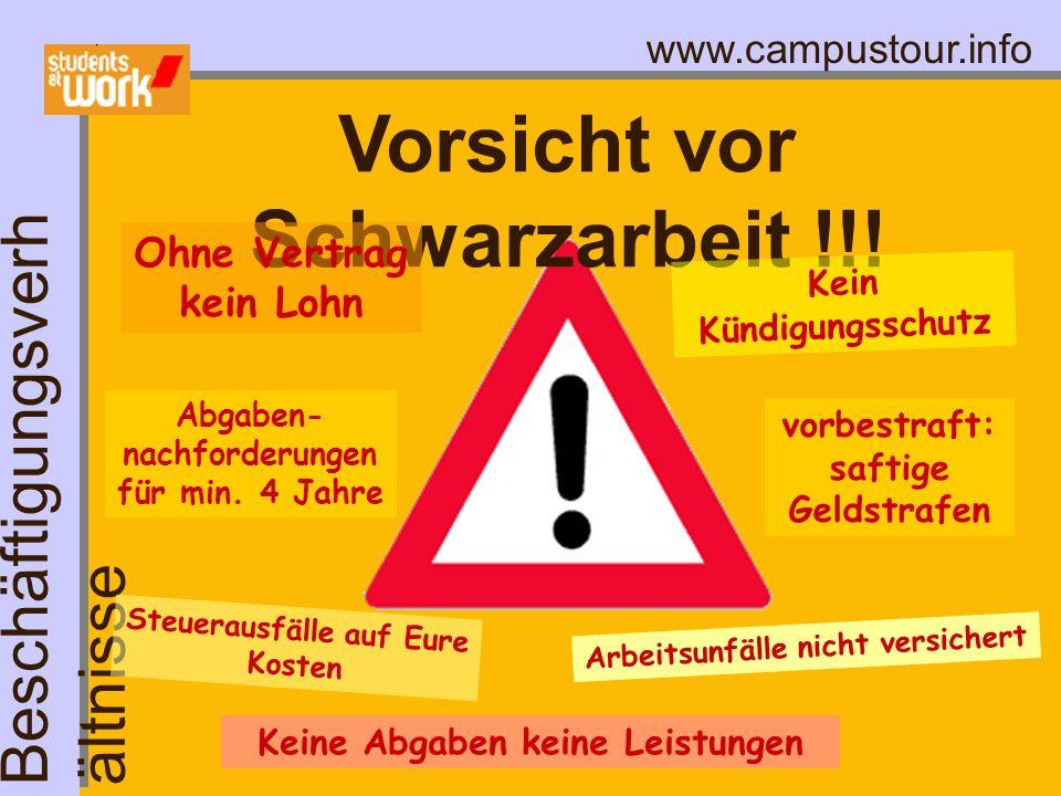 Vorsicht vor Schwarzarbeit !!!